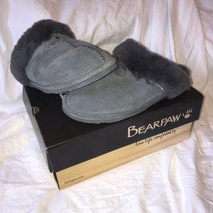 Bearpaw Loki II Charcoal Fuzzy Slippers